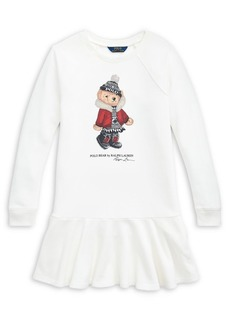 Ralph Lauren Childrenswear Girl's Holiday Bear French Terry Dress