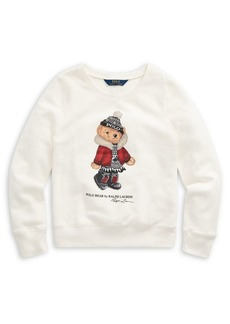 Ralph Lauren Childrenswear Girl's Holiday Bear French Terry Pullover
