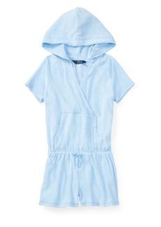 Ralph Lauren Childrenswear Girl's Hooded Cotton Terry Romper