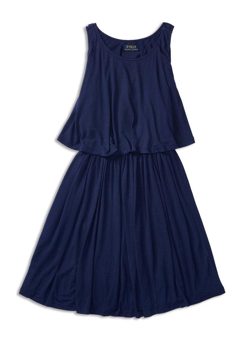Ralph Lauren Childrenswear Girls' Layered Knit Dress - Sized 2-6X