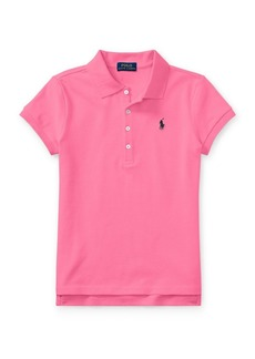 Ralph Lauren Childrenswear Girl's Stretch Cotton Polo Shirt