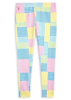 Ralph Lauren Childrenswear Girl's Mixed-Gingham Jersey Leggings