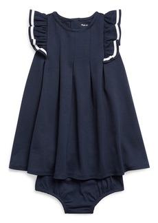 Ralph Lauren Childrenswear Girl's Nautical Ponte Knit Dress w/ Matching Bloomers  Size 6-24 Months