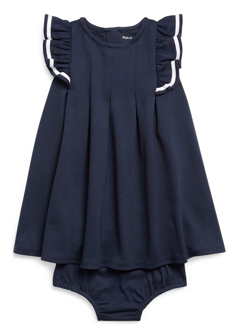 Ralph Lauren Childrenswear Girl's Nautical Ponte Knit Dress w/ Matching Bloomers  Size 6-24 Months