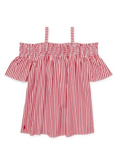 Ralph Lauren Childrenswear Girl's Off-The-Shoulder Cotton Top