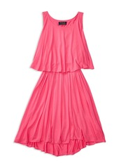 Ralph Lauren Childrenswear Girls' Overlap Back Jersey Dress - Big Kid