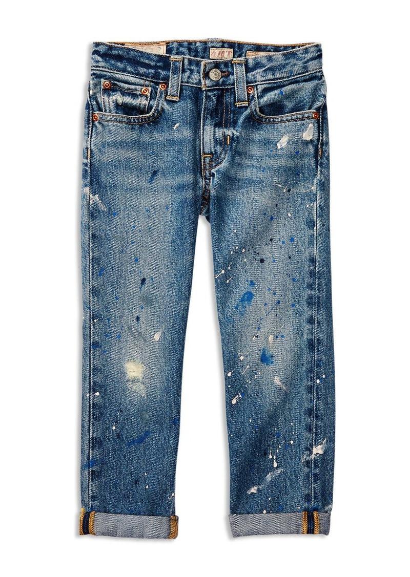Ralph Lauren Childrenswear Girls' Paint Splatter Slouchy Skinny Jeans - Little Kid