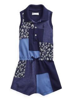 Ralph Lauren Childrenswear Girl's Patchwork Sleeveless Ribbed Romper  Size 9-24M