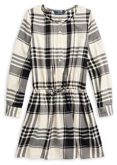 Ralph Lauren Childrenswear Girl's Plaid Cotton Dress
