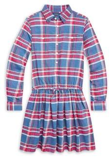 Ralph Lauren Childrenswear Girl's Plaid Cotton Fit-&-Flare Dress