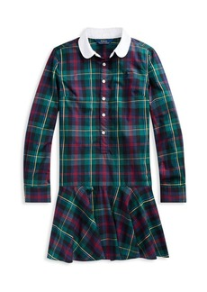Ralph Lauren Childrenswear Girl's Plaid Cotton Poplin Shirtdress