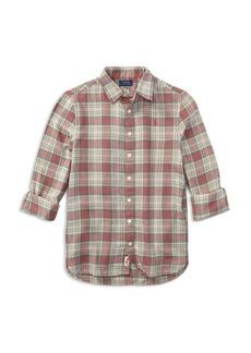 Ralph Lauren: Polo Polo Ralph Lauren Girls' Plaid Flannel Shirt - Big Kid