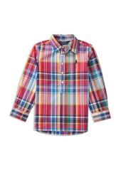 Ralph Lauren: Polo Polo Ralph Lauren Girls' Plaid Poplin Popover Shirt - Little Kid