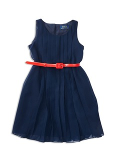 Ralph Lauren Childrenswear Girls' Pleated Georgette Dress - Little Kid