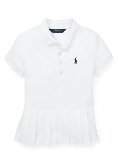 Ralph Lauren Childrenswear Girl's Pleated-Hem Mesh Polo