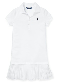Ralph Lauren Childrenswear Girl's Pleated Mesh Polo Dress