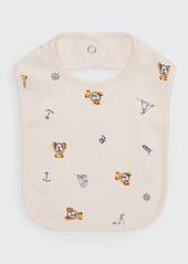 Ralph Lauren Childrenswear Girl's Polo Bear & Nautical Printed Baby Bib