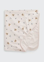 Ralph Lauren Childrenswear Girl's Polo Bear & Nautical Printed Baby Blanket