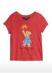 Ralph Lauren Childrenswear Girl's Polo Bear Fireworks T-Shirt  Size 2-4