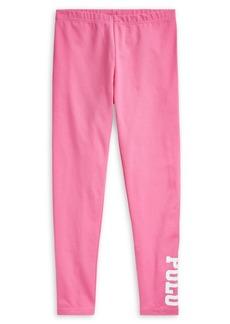 Ralph Lauren Childrenswear Girl's Polo Stretch-Cotton Leggings