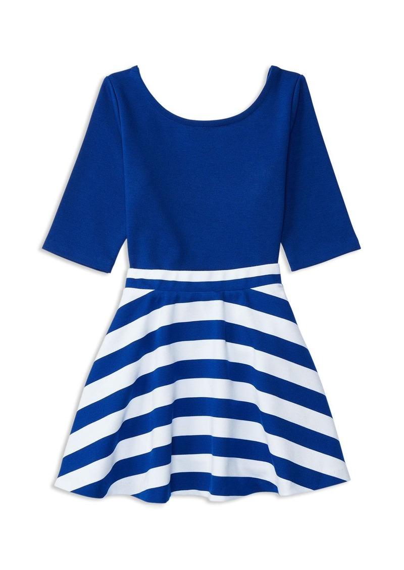 Ralph Lauren Childrenswear Girls' Ponte Color-Block Top and Skirt Set - Sizes 2-6X