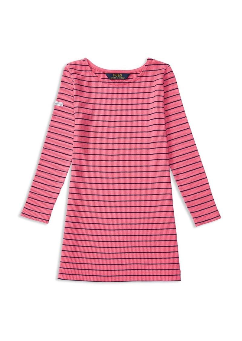 Ralph Lauren Childrenswear Girls' Ponte Stripe Dress - Sizes 2-6X