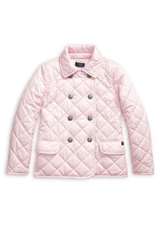 Ralph Lauren Childrenswear Girl's Quilted Double-Breasted Jacket