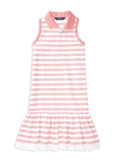 Ralph Lauren Childrenswear Girls' Ruffled Shirt Dress - Big Kid