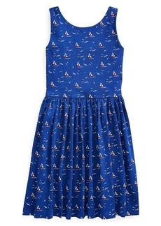 Ralph Lauren Childrenswear Little Girl's & Girl's Sailboat Cotton Jersey Dress