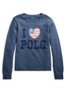 Ralph Lauren Childrenswear Girl's Sequin-Embellished Wool-Blend Sweater
