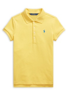 Ralph Lauren Childrenswear Girl's Short-Sleeve Mesh Polo