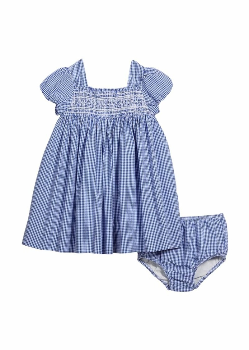 Ralph Lauren Childrenswear Girl's Smocked Gingham Dress w/ Bloomers  Size 9-24M