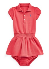 Ralph Lauren Childrenswear Girl's Smocked Polo Dress w/ Matching Bloomers  Size 6-24M