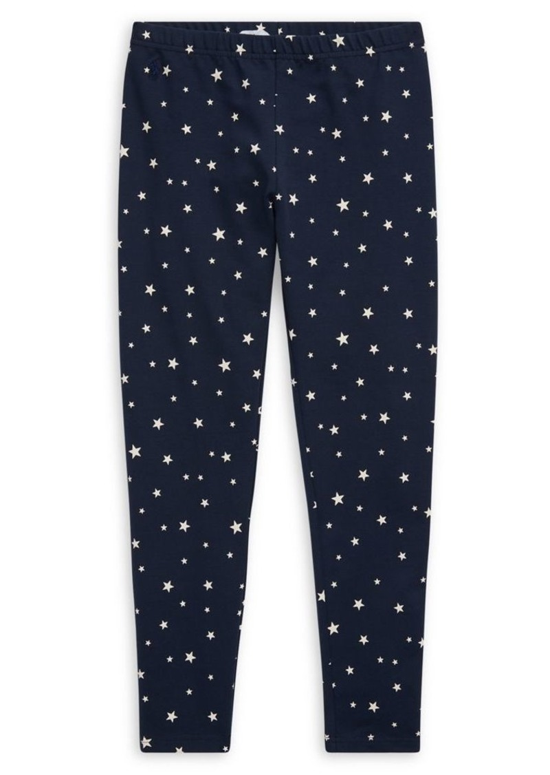 Ralph Lauren Childrenswear Girl's Star-Print Stretch Jersey Leggings