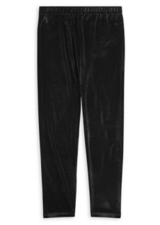 Ralph Lauren Childrenswear Girl's Stretch Velvet Leggings