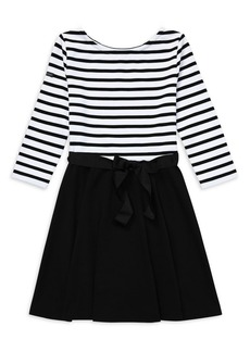 Ralph Lauren Childrenswear Girl's Stripe A-Line Dress