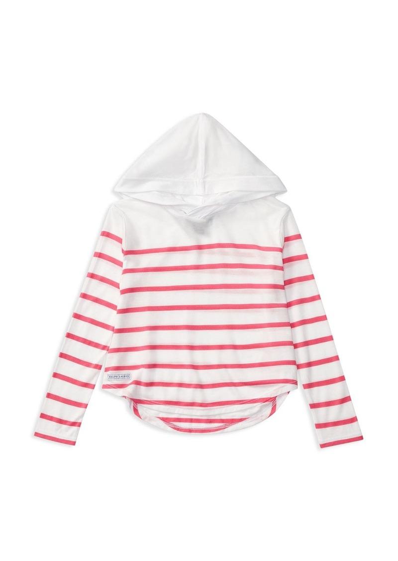 Ralph Lauren Childrenswear Girls' Stripe Jersey Hoodie - Sizes 2-6X