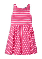 Ralph Lauren Childrenswear Girls' Stripe Sateen Dress - Little Kid