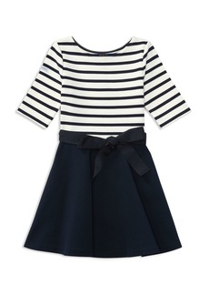 Ralph Lauren Childrenswear Girls' Striped & Solid Dress with Sash - Little Kid