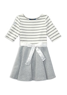 Ralph Lauren: Polo Polo Ralph Lauren Girls' Striped & Solid Dress with Sash - Little Kid