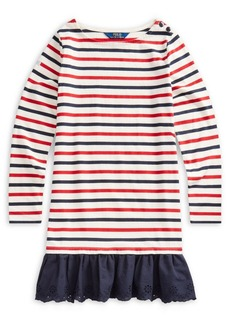 Ralph Lauren Childrenswear Girl's Striped Cotton Jersey Dress