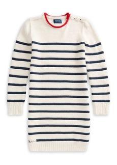 Ralph Lauren Childrenswear Girl's Striped Cotton Sweater