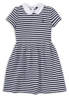 Ralph Lauren Childrenswear Girl's Striped Fit-and-Flare Dress