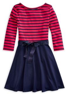 Ralph Lauren Childrenswear Girl's Striped Ponte Dress