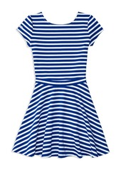 Ralph Lauren Childrenswear Girls' Striped Ponte Knit Top & Skirt Set - Big Kid