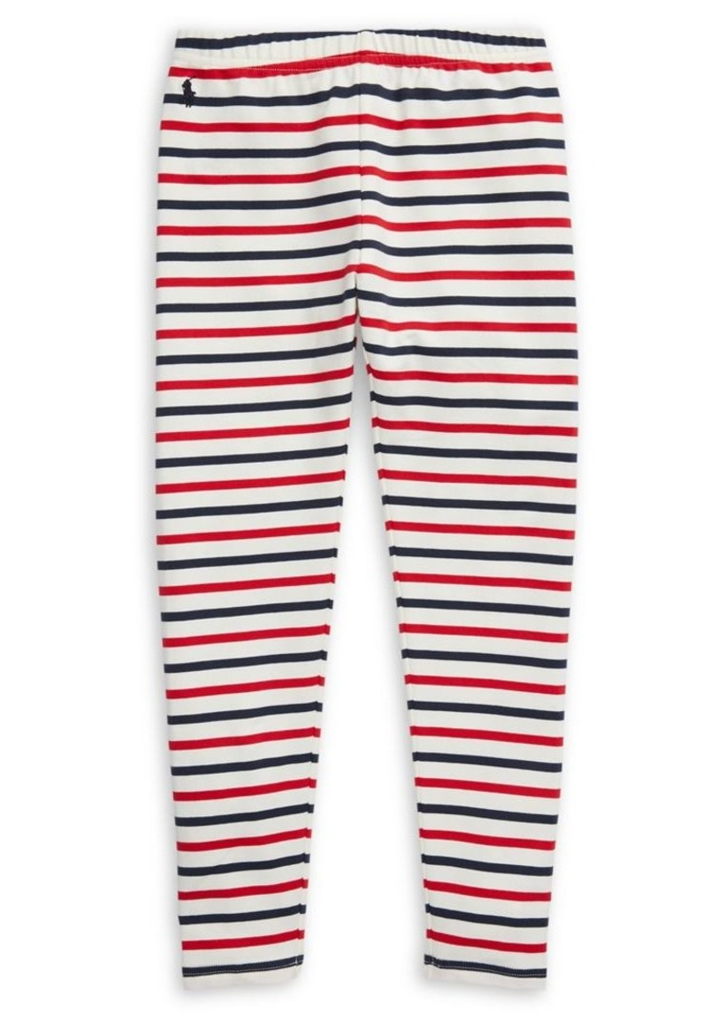 Ralph Lauren Childrenswear Girl's Striped Stretch-Cotton Jersey Leggings