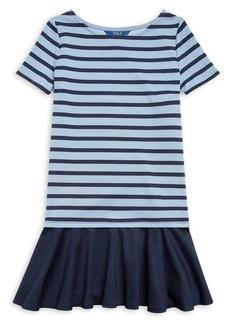 Ralph Lauren Childrenswear Girl's Striped Stretch Ponte Dress