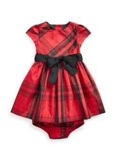 Ralph Lauren Childrenswear Girl's Taffeta Plaid Dress w/ Bloomers  Size 6-24 Months