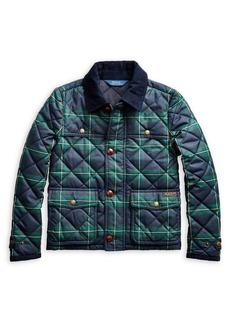 Ralph Lauren Childrenswear Girl's Tartan Plaid Quilted Barn Jacket