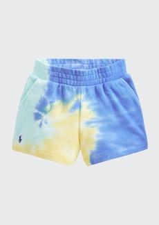 Ralph Lauren Childrenswear Girl's Tie-Dye Cotton Shorts  Size 2-4